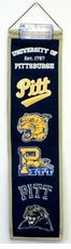 Pittsburgh Panthers Wool 8x32 Heritage Banner