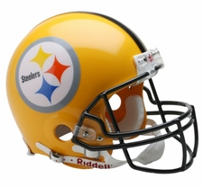 Pittsburgh Steelers 2007 Gold Throwback Riddell Pro Line Helmet