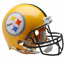 Pittsburgh Steelers 2007 Gold Throwback Replica Mini Helmet