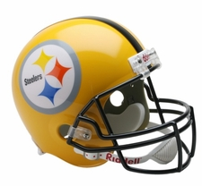 Pittsburgh Steelers 2007 Gold Throwback Riddell Deluxe Replica Helmet