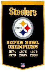 Pittsburgh Steelers 24 x 36 Wool Dynasty Banner