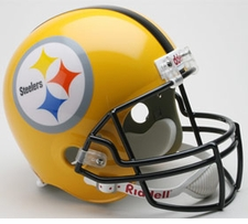 Pittsburgh Steelers 75th Anniversary Throwback Riddell Deluxe Replica Helmet