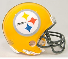 Pittsburgh Steelers 75th Anniversary Throwback Riddell Replica Mini Helmet