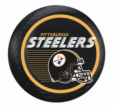 Pittsburgh Steelers Black Large Spare Tire Cover