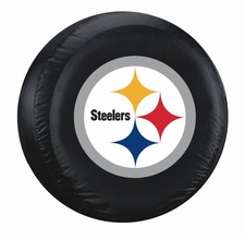Pittsburgh Steelers Black Logo Large Spare Tire Cover