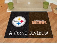 Pittsburgh Steelers - Cleveland Browns House Divided Floor Mat