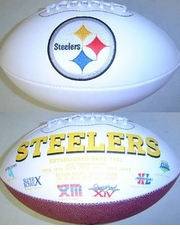 Pittsburgh Steelers Embroidered Autograph Signature Series Football