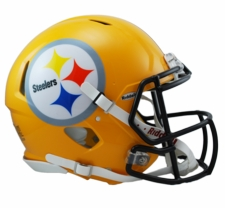 Pittsburgh Steelers Gold Revolution Speed Riddell Authentic Helmet