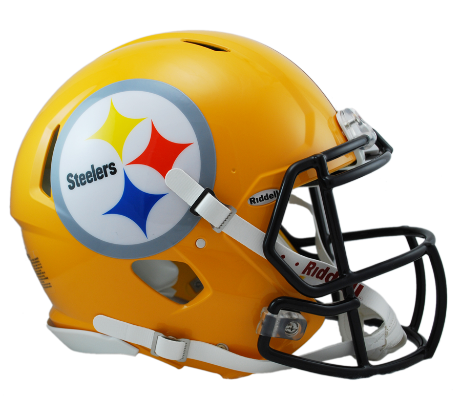 Pittsburgh Steelers Gold Revolution Speed Riddell Authentic Helmet 65a155929c4b