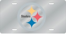 Pittsburgh Steelers Laser Cut Silver License Plate