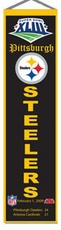 Pittsburgh Steelers Super Bowl 43 Wool 8x32 Heritage Banner