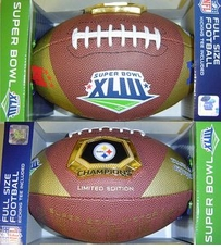 Pittsburgh Steelers Super Bowl XLIII 43 Champions Fotoball Sports Medallion NFL Full Size Football