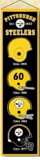 Pittsburgh Steelers Wool 8x32 Heritage Banner