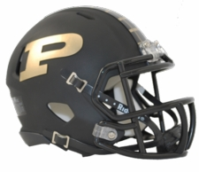 Purdue Boilermakers Black Riddell Speed Mini Helmet