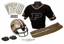 Purdue Boilermakers Deluxe Youth / Kids Football Helmet Uniform Set