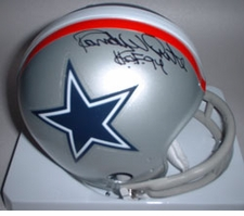 Randy White Dallas Cowboys Autographed Mini Helmet