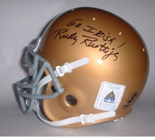 "Rudy Ruettiger Autographed ""Go Irish"" Notre Dame Fighting Irish Mini Helmet"