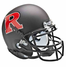 Rutgers Scarlet Knights Black w/ Red 'R' Schutt Authentic Mini Helmet