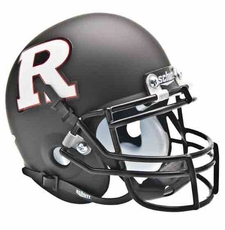Rutgers Scarlet Knights Black w/ White 'R' Schutt Authentic Mini Helmet