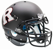 Rutgers Scarlet Knights Black White R Schutt XP Authentic Helmet
