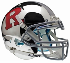 Rutgers Scarlet Knights Chrome Red R, Gray Stripe Schutt XP Authentic Helmet