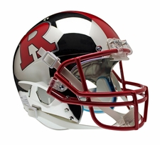 Rutgers Scarlet Knights Chrome w/ Red R and Red Stripe Schutt XP Full Size Replica Helmet