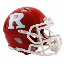 Rutgers Scarlet Knights Red Riddell Speed Mini Helmet