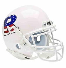 Rutgers Scarlet Knights White w/ Stars and Stripes Schutt Authentic Mini Helmet