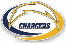 San Diego Chargers 12 x 12 Die-Cut Window Film Decal