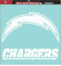 San Diego Chargers 18 x 18 Die-Cut Decal