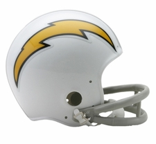 San Diego Chargers 1961-73 2-Bar Throwback Replica Mini Helmet