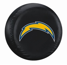 San Diego Chargers Black Standard Spare Tire Cover