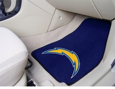 San Diego Chargers Car Mats 2 Piece Front Set