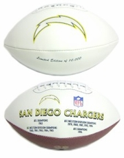 San Diego Chargers Embroidered Autograph Signature Series Football