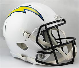 San Diego Chargers Full-Size Deluxe Replica Speed Helmet