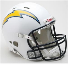San Diego Chargers Full Size Riddell Revolution NFL Helmet