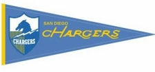 San Diego Chargers Throwback Wool Pennant