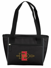 San Diego State Aztecs Black 16 Can Cooler Tote