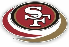 San Francisco 49ers 12 x 12 Die-Cut Window Film Decal