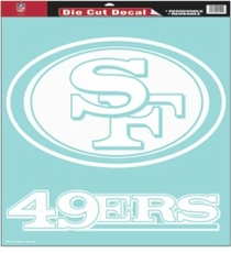 San Francisco 49ers 18 x 18 Die-Cut Decal