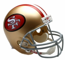 San Francisco 49ers 1964-95 Throwback Riddell Deluxe Replica Helmet