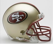 San Francisco 49ers 1996-2008 Throwback Replica Mini Helmet