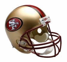 San Francisco 49ers 1996-2008 Throwback Riddell Deluxe Replica Helmet