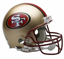 San Francisco 49ers 1996-2008 Throwback Riddell Pro Line Helmet