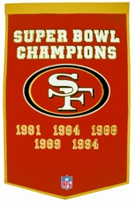 San Francisco 49ers 24 x 36 Wool Dynasty Banner