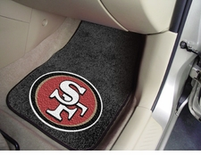 San Francisco 49ers Car Mats 2 Piece Front Set