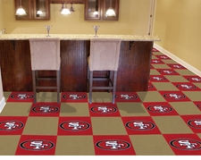 "San Francisco 49ers Carpet Tiles - 20 18"" x 18"" Tiles"