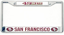 San Francisco 49ers Chrome License Plate Frame