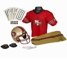 San Francisco 49ers Deluxe Youth / Kids Football Uniform Set