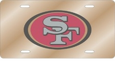 San Francisco 49ers Laser Cut Gold License Plate